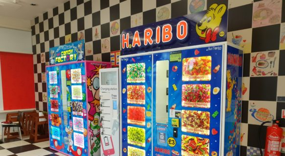 Crazy Candy Factory and Haribo Vending machine