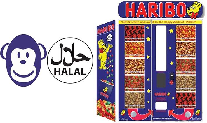 Haribo vending machine Blue Monkey Vending