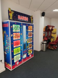 Haribo Vending machine at Boost Trampoline Park Leicester
