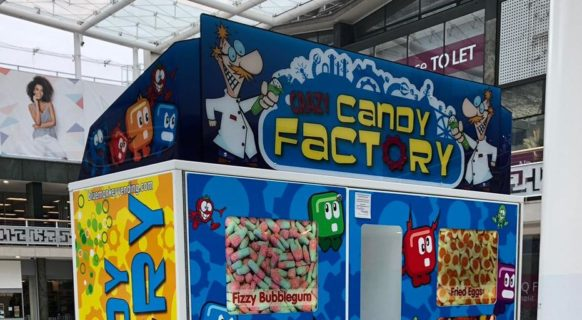 Crazy Candy Factory Vending Machine - Blue Monkey Vending