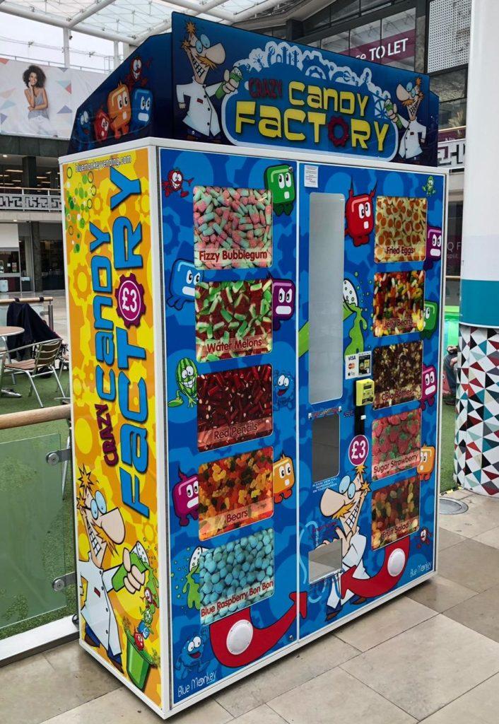 Crazy Candy Factory Vending Machine - Blue Monkey Vending