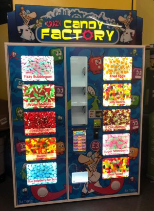 Crazy Candy Factory - Blue Monkey Vending