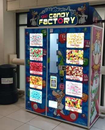 Crazy Candy Factory Vending Machine at Chelmsley Wood