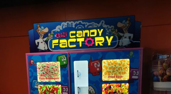 Crazy Candy Factory Vending Machine at Prestatyn