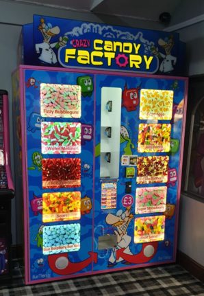 Crazy Candy Factory Vending Machine at Jakes Bar SF Parks
